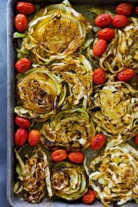 Take cabbage to the next level with roasted cabbage and tomatoes. Spiced to perfection and roasted, the cabbage is sure to satisfy those veggies cravings!