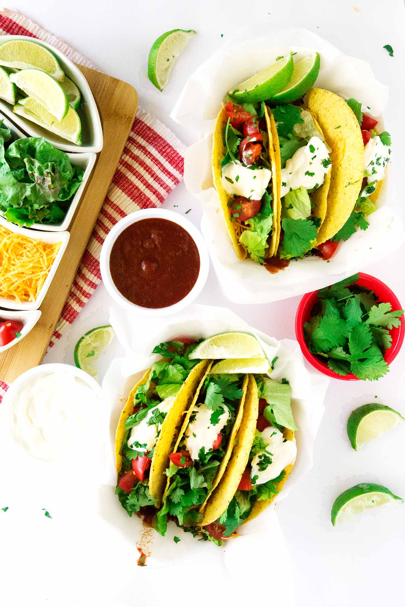 This is the best ground beef tacos recipe ever! Packed and loaded with flavor these hard shell tacos will leave you begging for more! Yummy.
