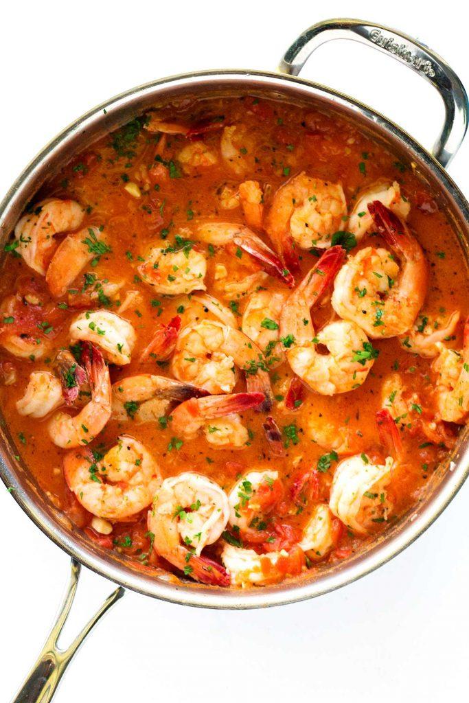 20 minute italian garlic butter shrimp  u2022 so damn delish