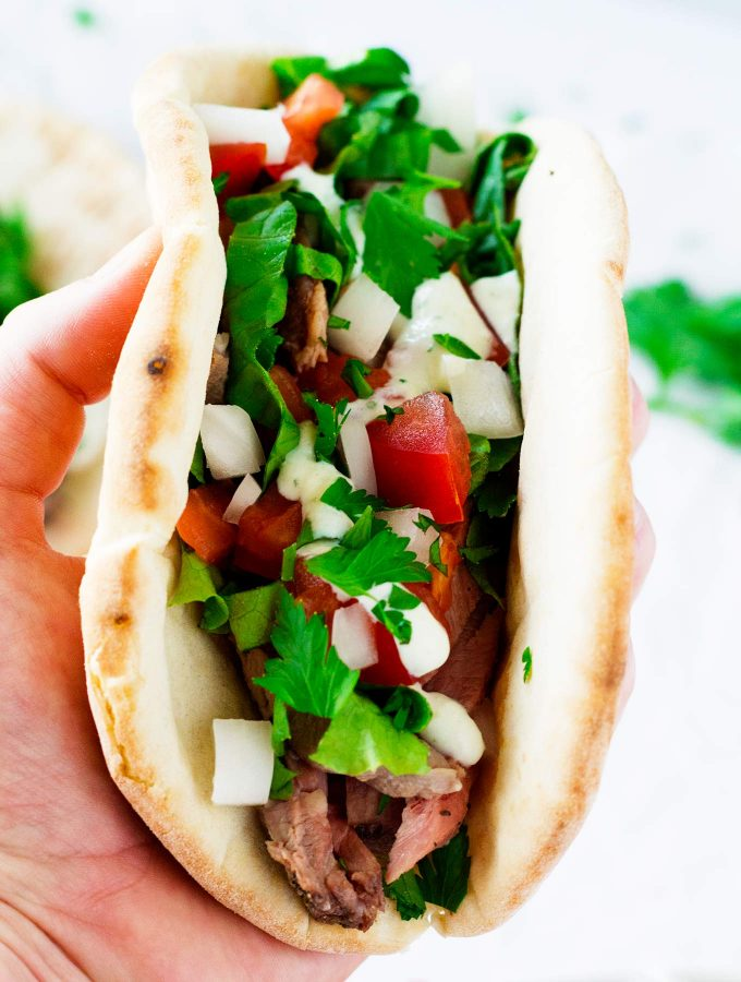 Leftover Lamb Roast Gyros